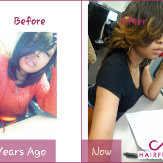 a year's time using hairfinity... I live by hairfinity lol