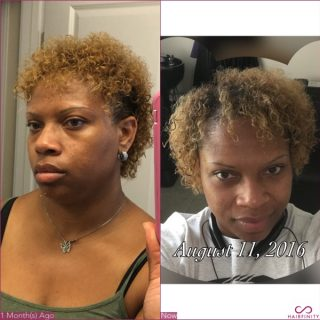 I really love Hairfinity products My hair is thicker and it growing fast.... Hairfinity ROCKS!!!!!!