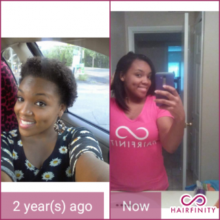 took a break from hairfinity during my pregnancy so I only had about 8 months of hairfinity growth
