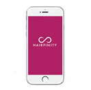Download the Hairfinity App to access tips, hair care reminders, and inspiration through real-life journeys of hair transformation.