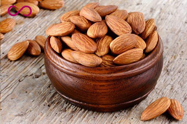 Almonds Helps Hair Grow