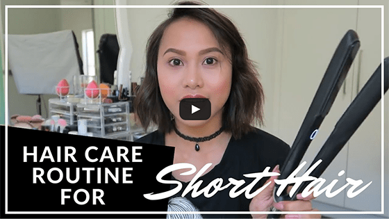 My Hair Care Routine and Go-To Style for Short Hair