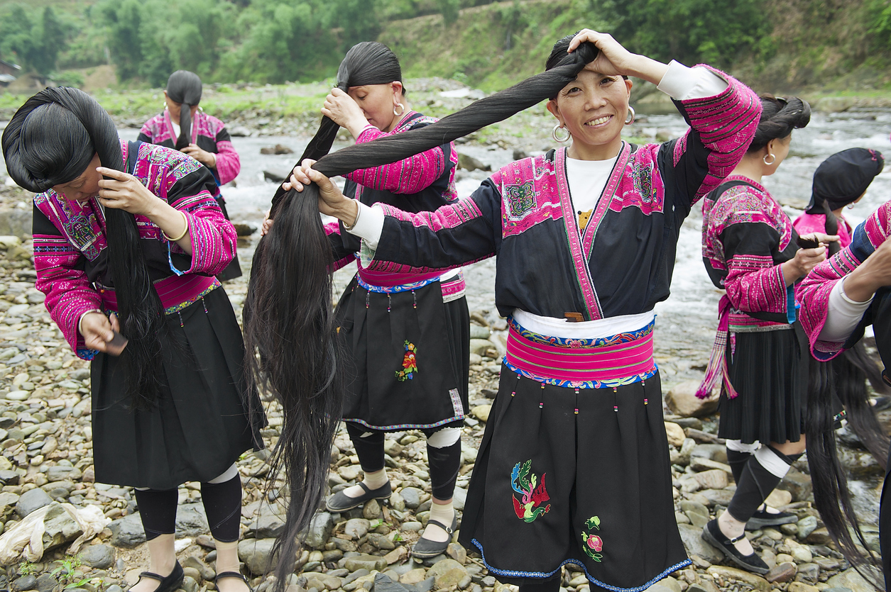 Yao People in China Have Longest Hair